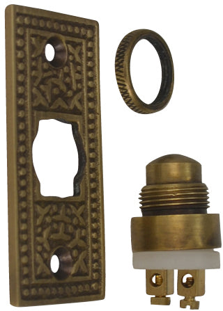 Solid Brass Rice Pattern Door Bell (Antique Brass Finish)