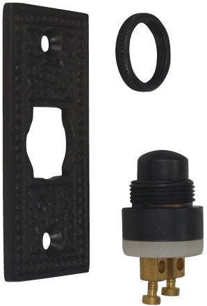 Solid Brass Rice Pattern Door Bell (Oil Rubbed Bronze Finish)