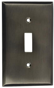 4 1/2 Inch Solid Brass Traditional Switch Plate (Antique Nickel)