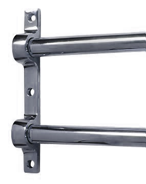 36 Inch Solid Brass Double Push Bar (Polished Chrome Finish)