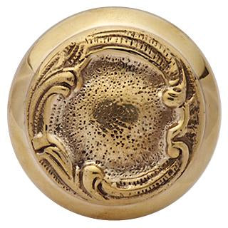 Solid Brass Lafayette Swirl Spare Door Knob Set (Polished Brass)