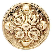 Solid Brass Romanesque Spare Door Knob Set (Polished Brass)