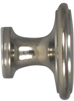 1 1/2 Inch Brass Flat Top Cabinet Knob (Polished Chrome Finish)