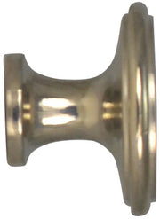1 1/2 Inch Brass Flat Top Cabinet Knob (Polished Nickel Finish)
