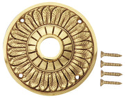 Solid Brass Feather Style Rosettes (Polished Brass Finish)