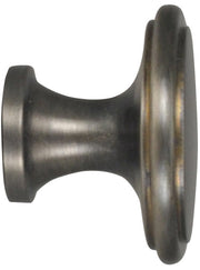 1 1/2 Inch Brass Flat Top Cabinet Knob (Antique Nickel Finish)