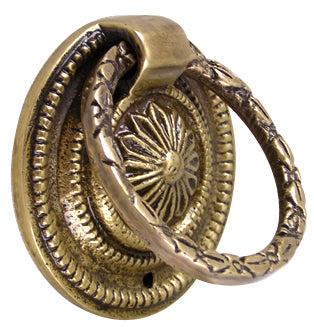 1 3/4 Inch Victorian Ring Pull (Antique Brass Finish)