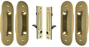 Traditional Oval Pattern Double Pocket Passage Style Door Set (Polished Brass)