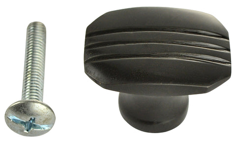 1 1/10 Inch Solid Brass Lined Knob (Oil Rubbed Bronze Finish)