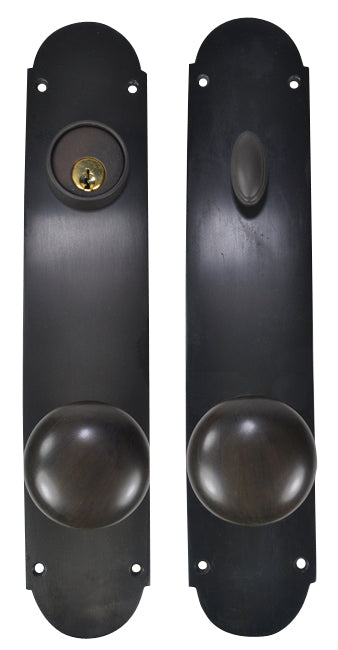 Traditional Oval Single-Door Deadbolt Entryway Set (Oil Rubbed Bronze Finish)