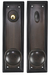 Traditional Square Deadbolt Entryway Set (Oil Rubbed Bronze Finish)