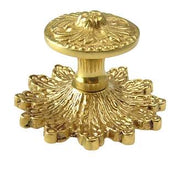 2 5/8 Inch Polished Brass Rococo Victorian Knob with Back Plate (Polished Brass Finish)