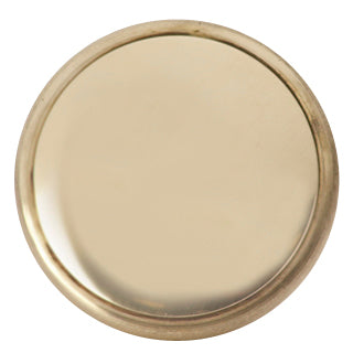 1 1/2 Inch Brass Flat Top Cabinet Knob (Polished Brass Finish)