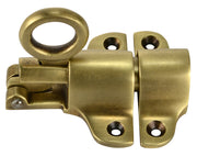 Solid Brass Traditional Transom Window Latch (Antique Brass Finish)