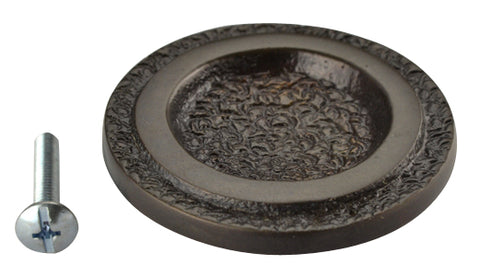 2 Inch Solid Brass Cascade Circle Knob (Oil Rubbed Bronze Finish)