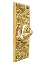 Solid Brass Eastlake Style Door Bell (Polished Brass Finish)