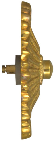 Provincial Style Door Bell Push Button (Polished Brass Finish)