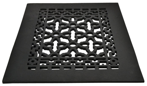 Black Iron Grille: 12 Inch x 9 Inch