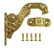 4 Inch Solid Brass Lost Cast Wax Lion Head Stair Rail Bracket