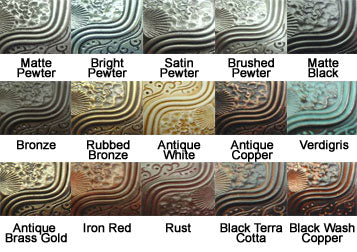 4 1/2 Inch Solid Pewter Roguery Pull (Bronze Black Wash Finish)