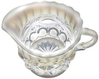 Eye Winker Pattern Glass: Crystal Opal Creamer Dish