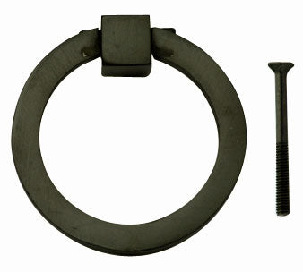 3 Inch Mission Style Solid Brass Drawer Ring Pull (Oil Rubbed Bronze)