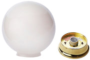 Sphere Glass Overhead Light Fixture (Polished Brass Finish)