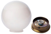 Sphere Glass Overhead Light Fixture (Antique Brass Finish)