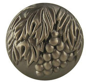 1 3/8 Inch Vineyard Solid Brass Knob (Antique Nickel Finish)