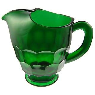 54 Ounce Emerald Green Glass Pitcher: Georgia Pattern