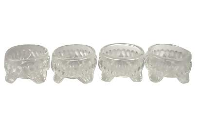 Set of 4 Salt Cellar Caprice Pattern (Cambridge Glass Caprice Pattern)