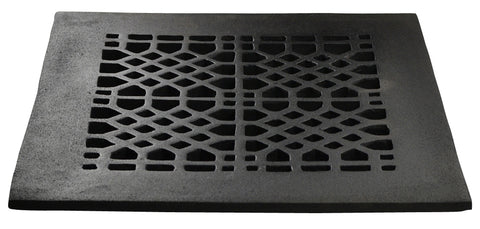 Black Iron Grille: 10 Inch x 8 Inch