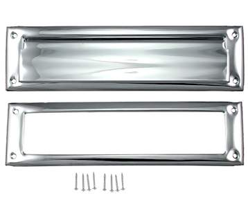 Magazine Size Front Door Mail Slot (Polished Chrome)