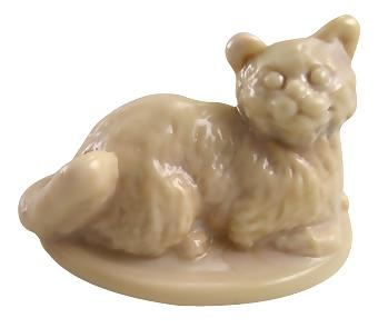 Chocolate Glass Kitten or Cat Lidded Salt Cellar