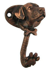 3 Inch Labrador Dog Wall Hook (Antique Copper Finish)