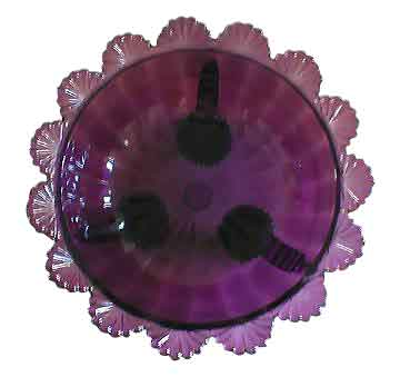 Fruit Bowl - Large Amethyst Glass