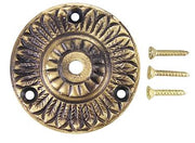 2 Inch Solid Brass Feather Backplate (Antique Brass Finish)