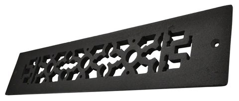 Black Iron Grille: 12 Inch x 2 1/4 Inch