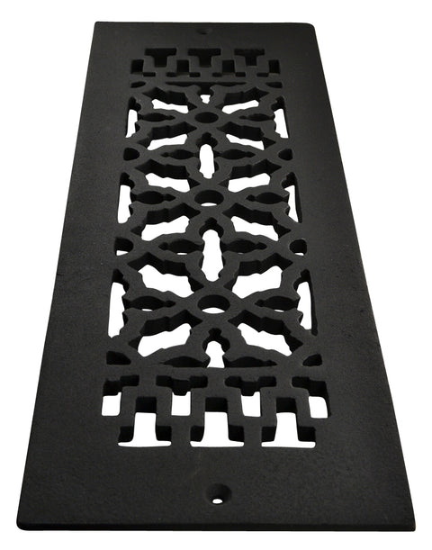 Black Iron Grille: 14 Inch x 4 Inch