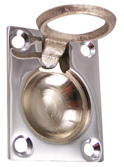 1 3/4 Inch Solid Brass Traditional Flush Ring Pull (Polished Chrome Finish)