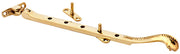 10 Inch Long Georgian Roped Casement Window Stay Polished Brass Finish