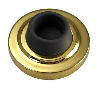 2 3/8 Inch Wall Bumper Guard (Polished Brass Finish)