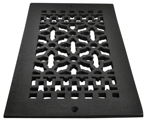 Black Iron Grille: 12 Inch x 6 Inch