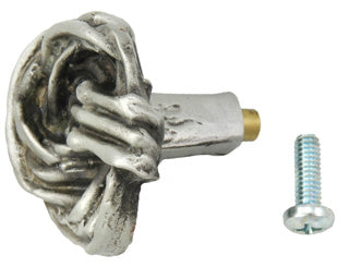 1 3/8 Inch Solid Pewter Cottage Vine Knob (Satin Pewter Finish)