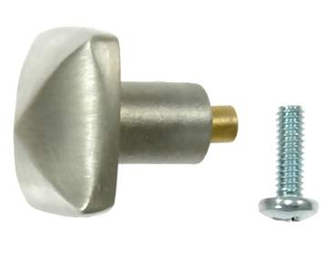 1 Inch Solid Pewter Hobnail Style Knob (Brushed Natural Pewter Finish)