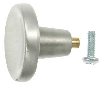 1 1/3 Inch Solid Pewter Counterparts Knob (Brushed Natural Pewter Finish)
