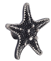1 3/4 Inch  Ocean Seaside Nautical Solid Pewter Decorative Starfish Knob (Satin Pewter Finish)