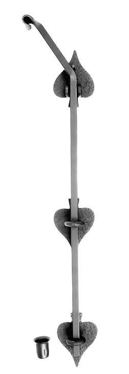 18 Inch Long Heart Shape Cane Bolt