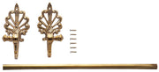 Towel Bar, 18 In., Fleur De Lis Style In Solid Brass (Polished Brass Finish)