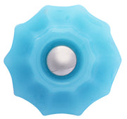 Astoria 1 1/4 Inch Milk Blue Glass Decagon Ten Sided Drawer Knobs